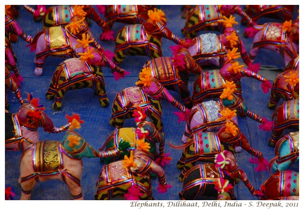 Colourful elephant toys from Rajasthan - S. Deepak, 2011