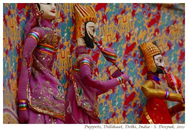 Rajasthani puppets in Dilli Haat,Delhi - S. Deepak, 2011