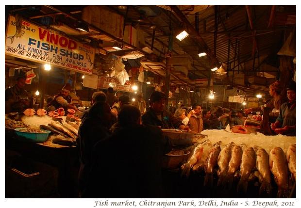 Fish market, Chitranjan Park Delhi - S. Delhi, 2011