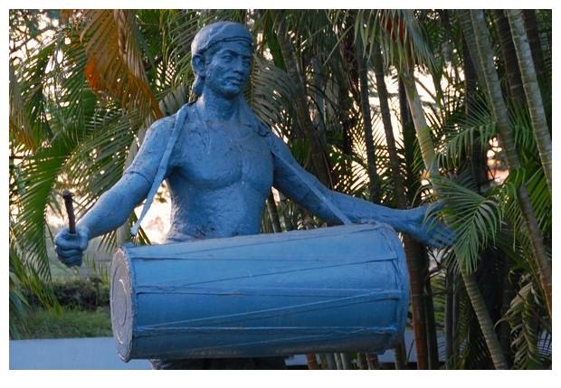 Blue statues, Kalakshetra, Guwahati, India