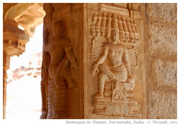 Ramayan sculptures, Hampi, Karnataka, India - S. Deepak, 2011