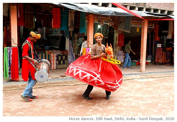 Horse dance,Delhi, India - images by Sunil Deepak, 2010
