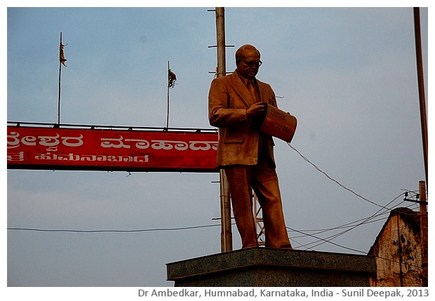 Dr Ambedkar statue, Humnabad, Karnataka, India - images by Sunil Deepak, 2013