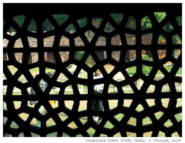 People through lattice, Delhi, India - S. Deepak, 2008