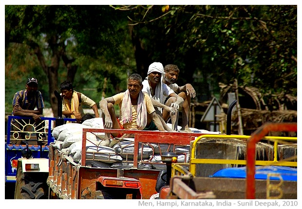 Men at work, Hampi, India - images by Sunil Deepak 2010