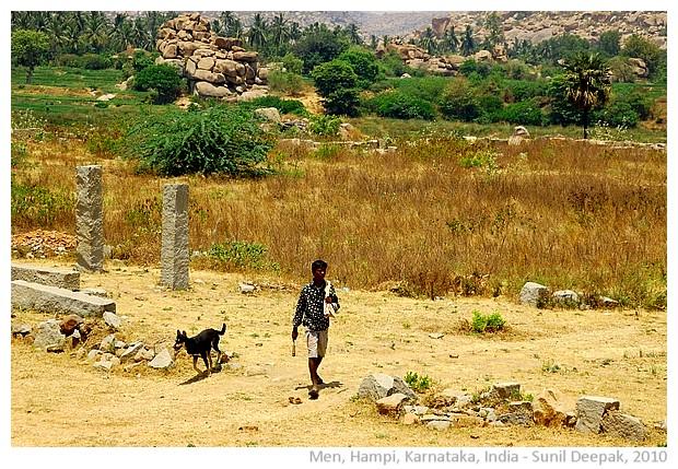 Men at work, Hampi, India - images by Sunil Deepak 2010