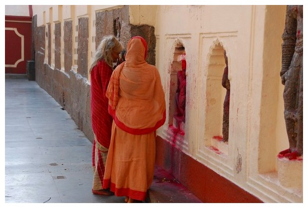 Orange colour of renunciation, prayer and holiness
