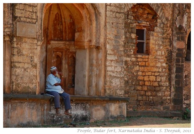 People Bidar fort India - S. Deepak, 2011