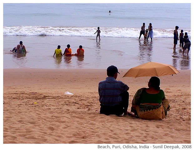 Beach, Puri, Odisha, India - images by Sunil Deepak, 2008