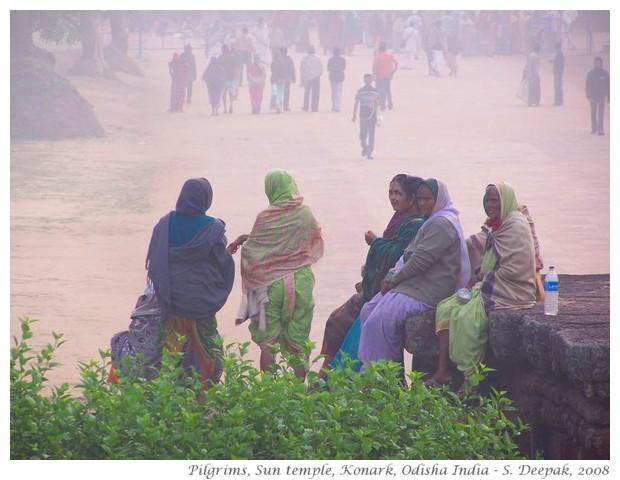 Pilgrims & mist, sun temple Konark - S. Deepak, 2008