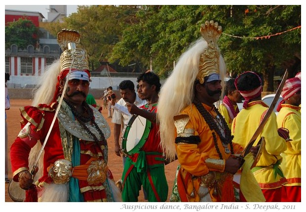 Sacred impersonation for auspicious beginnings - India - images by S. Deepak
