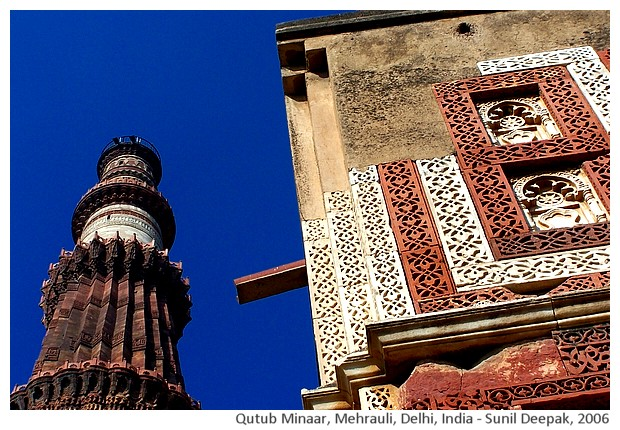Qutub Minar, Delhi, India - images by Sunil Deepak, 2006