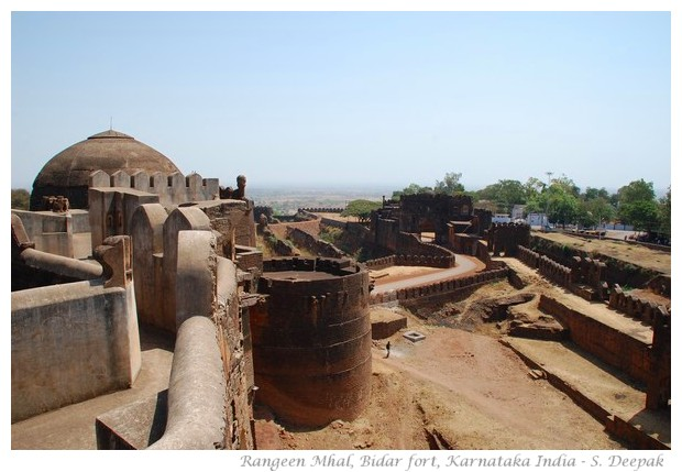 Rangeen Mahal in Bidar fort, Karnataka, India - images by S. Deepak