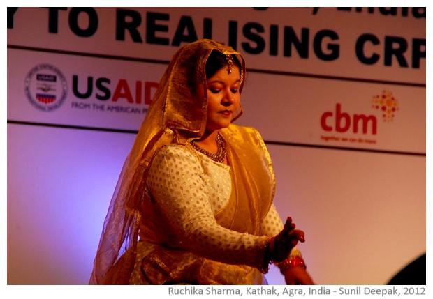 Kathak dance by Ruchika Sharma,Agra, India - images by Sunil Deepak, 2012
