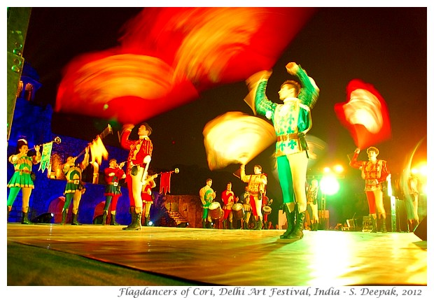 Flagdancers of Cori in Delhi Art Festival, India - S. Deepak, 2012