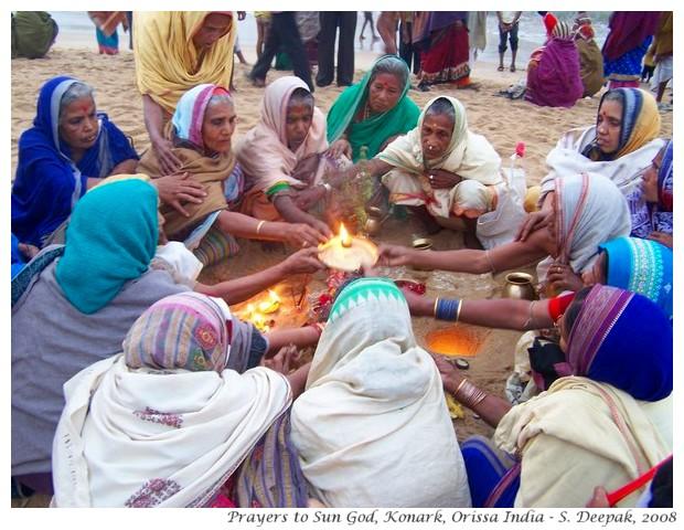 Prayers to rising sun, Orissa India - S. Deepak, 2008