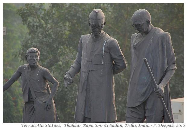Thakkar Bapa Bhavan statues, Delhi, India - S. Deepak, 2012