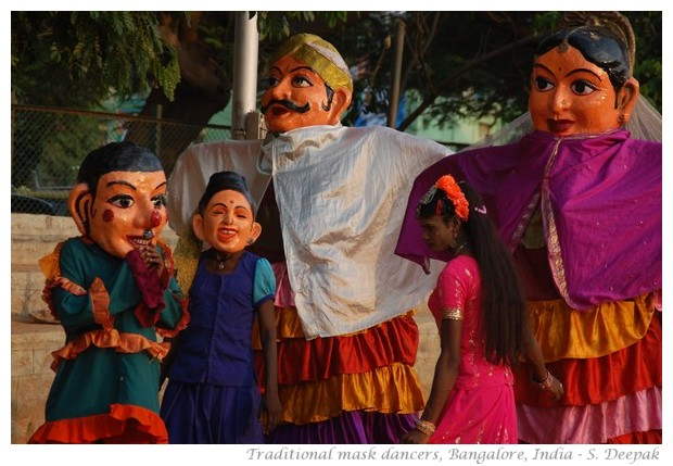 Traditional dancers with a transgender person, India - images by S. Deepak