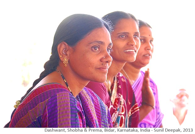 Women community workers, Bidar, Karnatka, India - images by Sunil Deepak, 2013