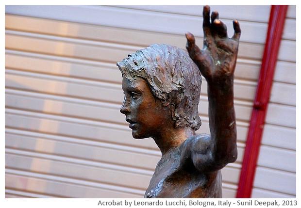 Acrobat boy by Leonardo Lucchi, Bologna, Italy - images by Sunil Deepak, 2013