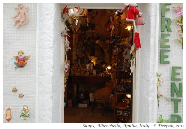 Shops for tourists in Alberobello, Apulia, Italy - S. Deepak, 2012