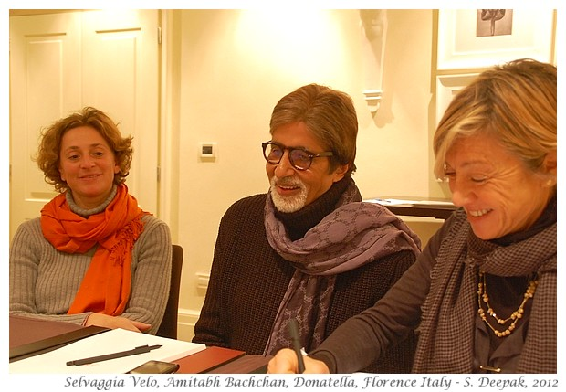 Amitabh Bachchan at River to River film festival, Florence - S. Deepak, 2012