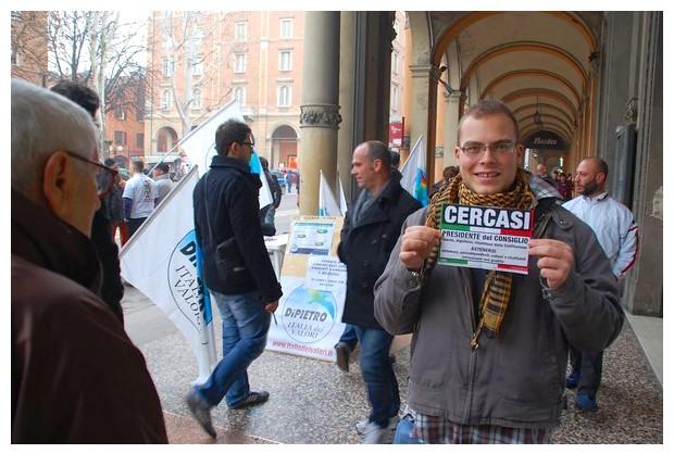 Protest march against Berlusconi in Bologna, 13 Feb 2011