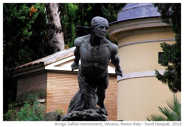Arrigo saltini tomb, Verano cemetery, Rome, Italy - images by Sunil Deepak, 2013