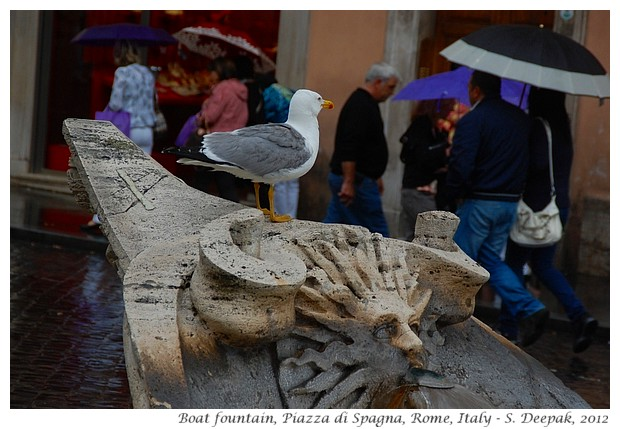 Boat fountain, Spanish square Rome, Italy - S. Deepak, 2012
