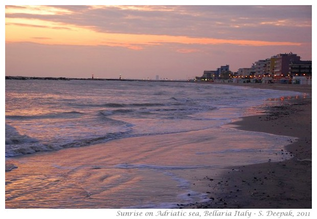 Sunrise on Adriatic sea, Bellaria-Rimini, Italy - S. Deepak, 2011