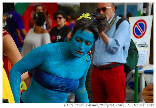 Girl in blue, Bologna Gay Pride, Italy - S. Deepak, 2012