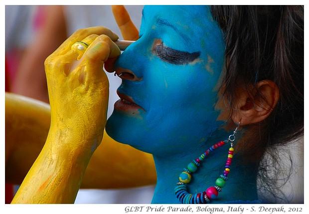 Girl in blue, Bologna Gay Pride, Italy - S. Deepak, 2012