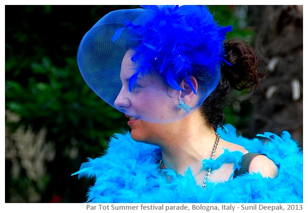Partot summer festival parade, Bologna, Italy - images by Sunil Deepak, 2013