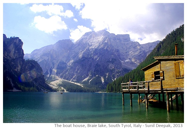 Boat house, Braie lake, South Tyrol, Italy - images by Sunil Deepak, 2013