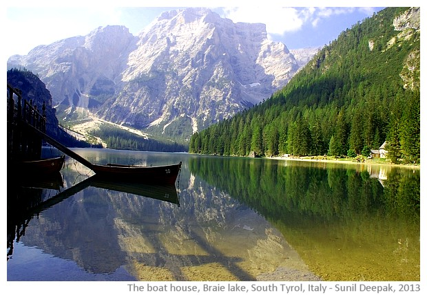 Boat house, Braie lake, South Tyrol, Italy - images by Sunil Deepak, 2013