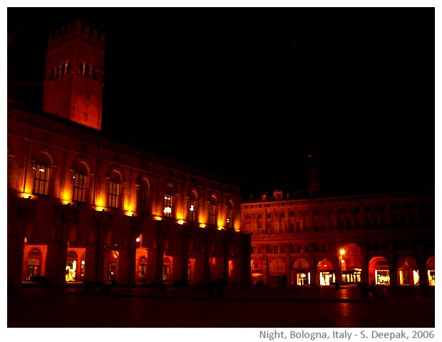Bologna, Italy images by Sunil Deepak, 2006