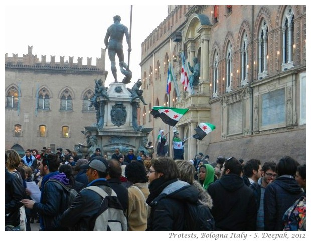 Protests in Bologna - S. Deepak, 2012