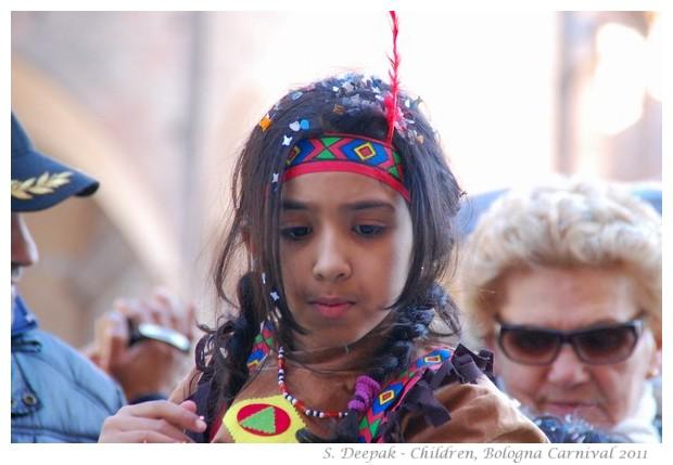 Children at Bologna Carnival, 6 March 2011