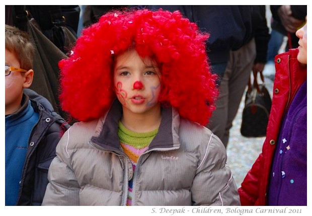 Children at Bologna Carnival, 6 March 2011