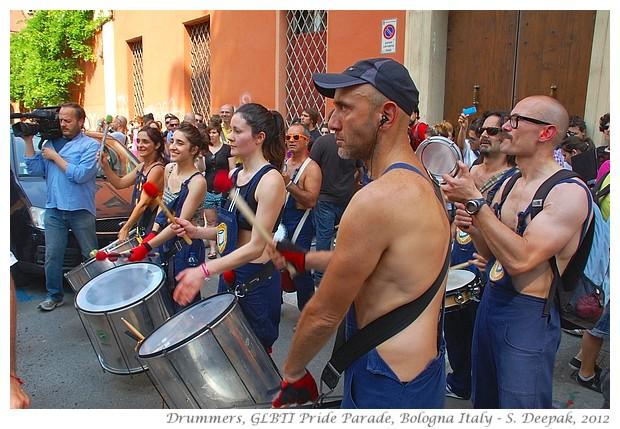 Drummers, Bologna GLBTI Pride Parade Italy - S. Deepak, 2012