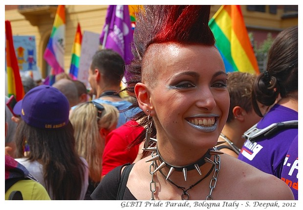 Punk couple, Bologna GLBTI Pride parade, Italy - S. Deepak, 2012