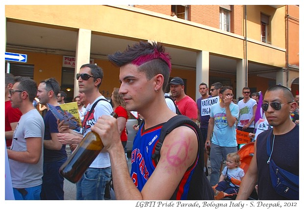 People with body pins, Bologna LGBT Pride - S. Deepak, 2012