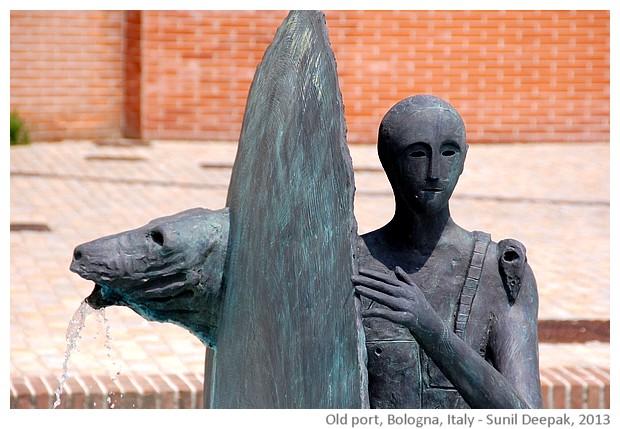 Fountain by Mimmo Paladino, Giardino del Cavaticcio, Bologna, Italy - images by Sunil Deepak, 2013
