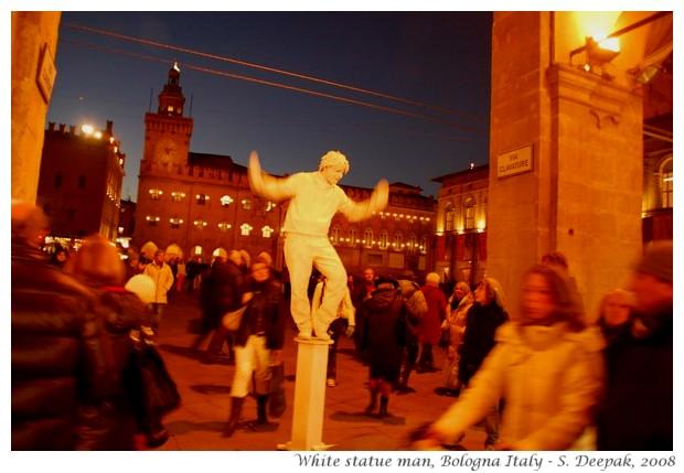White statue man, Bologna, Italy - S. Deepak, 2008