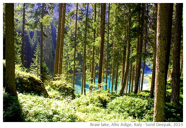 Braie lake, Alto Adige, Italy - images by Sunil Deepak, 2013