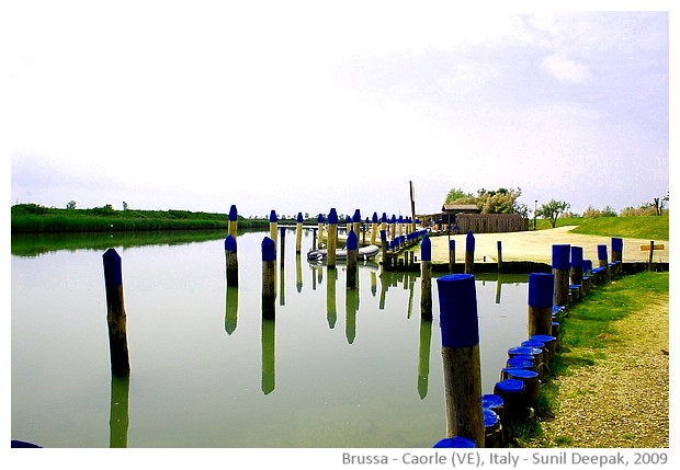Boat port, Brussa Caorle (VE), Italy - images by Sunil Deepak, 2009