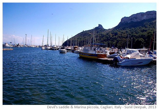 Devil's saddle and Marina piccola, Cagliari, Sardinia, Italy - images by Sunil Deepak, 2013