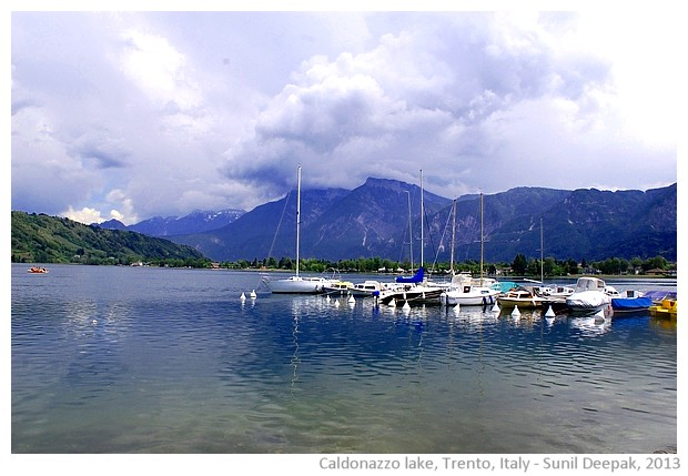 Boats in Caldonazzo lake, Trento, Italy - images by Sunil Deepak, 2013