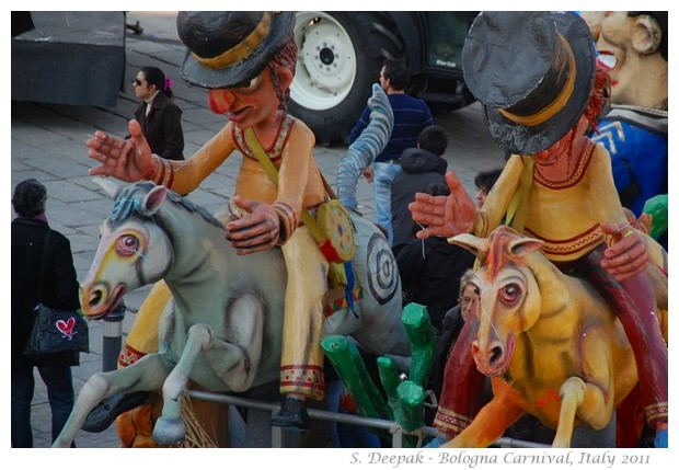Cowboys at Bologna Carnival, Italy 2011, image by S. Deepak