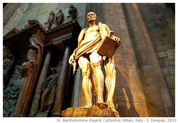 St Bartholomew flayed, Cathedral, Milan, Italy